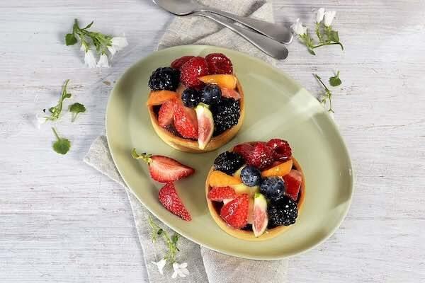 Frukt og bær tartelett
